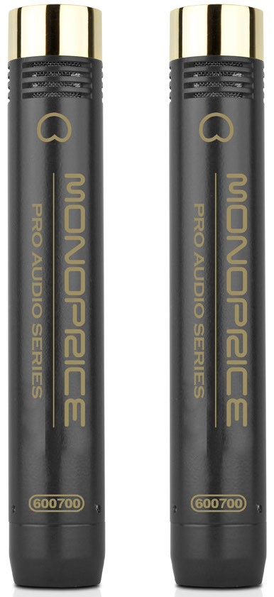 Monoprice Small-Diaphragm Stereo Matched Pair Condenser Microphones