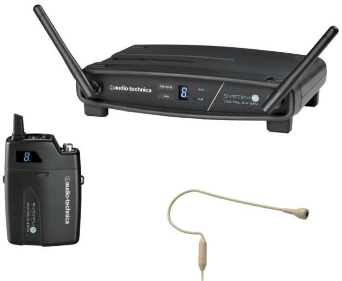 Audio-Technica System 10 ATW-1101 PRO92 Digital Wireless Microphone Headset System