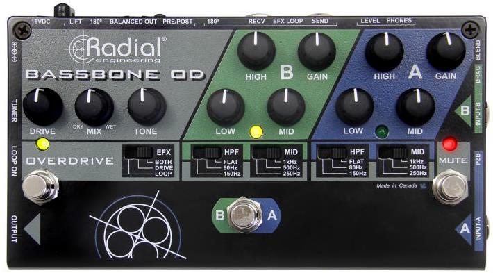 Radial Bassbone OD Bass Preamp DI Pedal