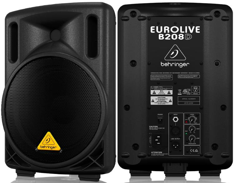 "Behringer Eurolive B208D 8"" Powered PA Speaker - 200W"