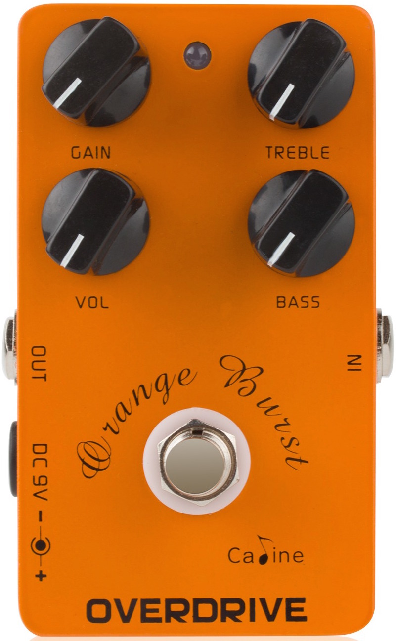 Caline CP-18 Orange Burst Overdrive Pedal