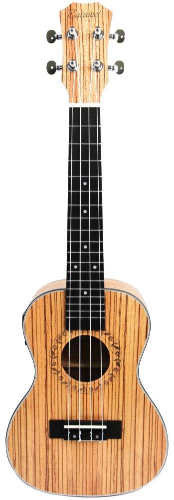 Caramel CC100 Zebra Wood Concert Acoustic-Electric Ukulele