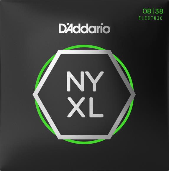 D'Addario NYXL0838 Nickel Wound Electric Guitar Strings (Extra Super Light Gauge)