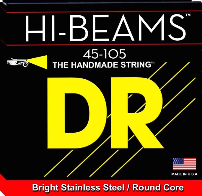 DR Strings MR-45 Hi-Beam Stainless Steel Medium Bass Guitar Strings