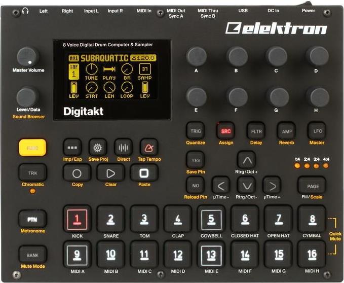 Elektron Digitakt 8-voice Drum Machine
