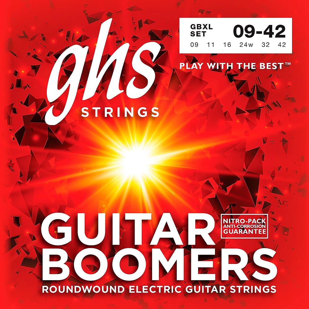 GHS GBXL Guitar Boomers Electric Guitar Strings (Super Light Gauge)