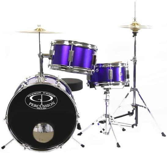 GP Percussion GP50MPR 3-Piece Acoustic Junior Drum Set