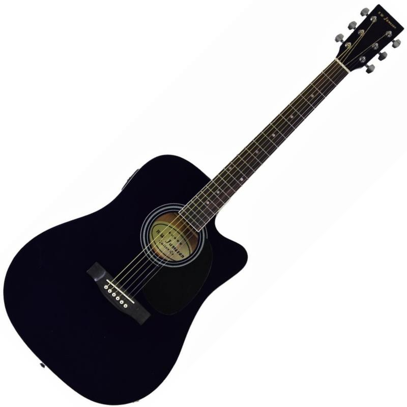 Jameson Guitars 900 Series Full Size Thinline 6 String Acoustic-Electric Guitar