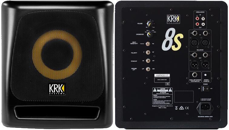 "KRK 8S2 8"" Powered Studio Subwoofer"