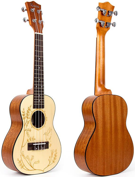 Kmise Solid Spruce Hawaii Concert Acoustic-Electric Ukulele