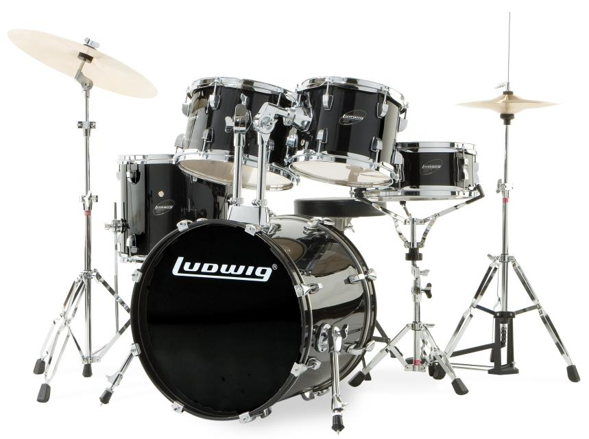 Ludwig LC175 Accent Drive 5-Piece Acoustic Drum Set
