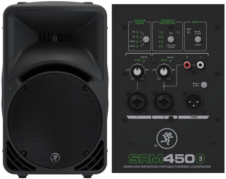Mackie SRM450v3 1000w Powered PA Speaker