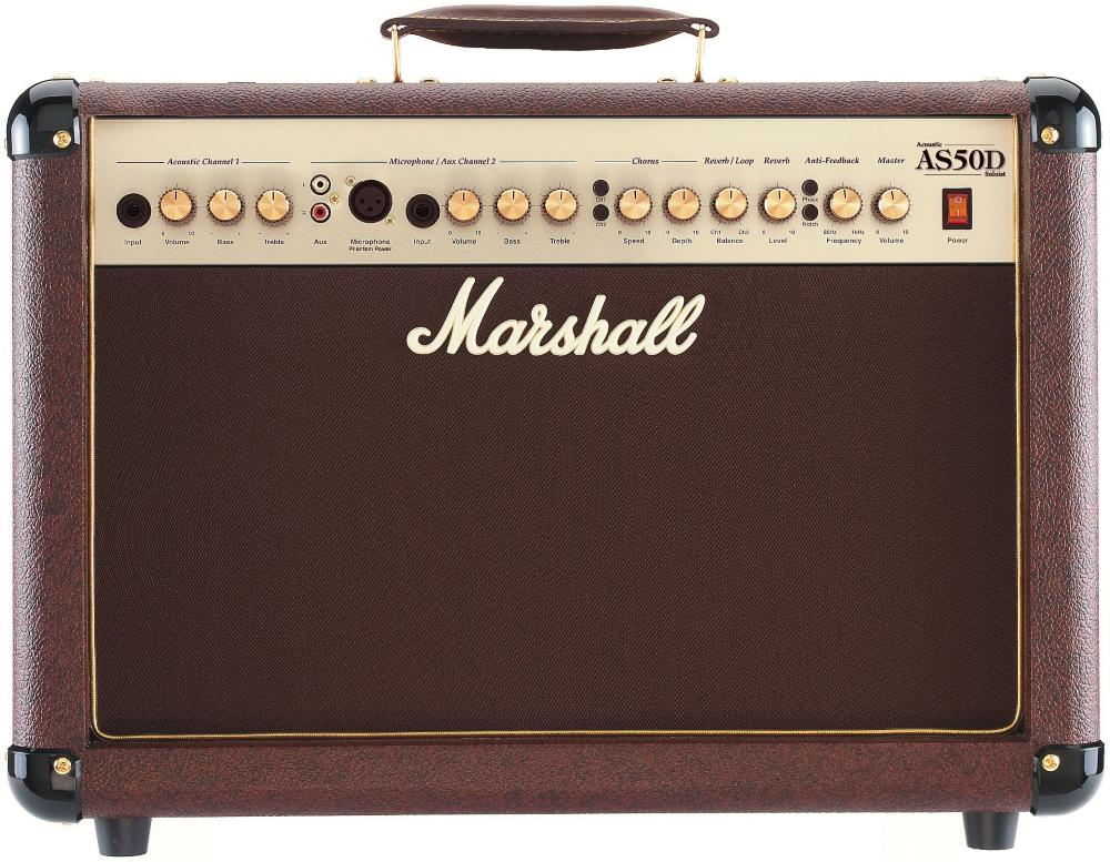 Marshall AS50D 50-Watt 2 Channel Acoustic Guitar Combo Amp