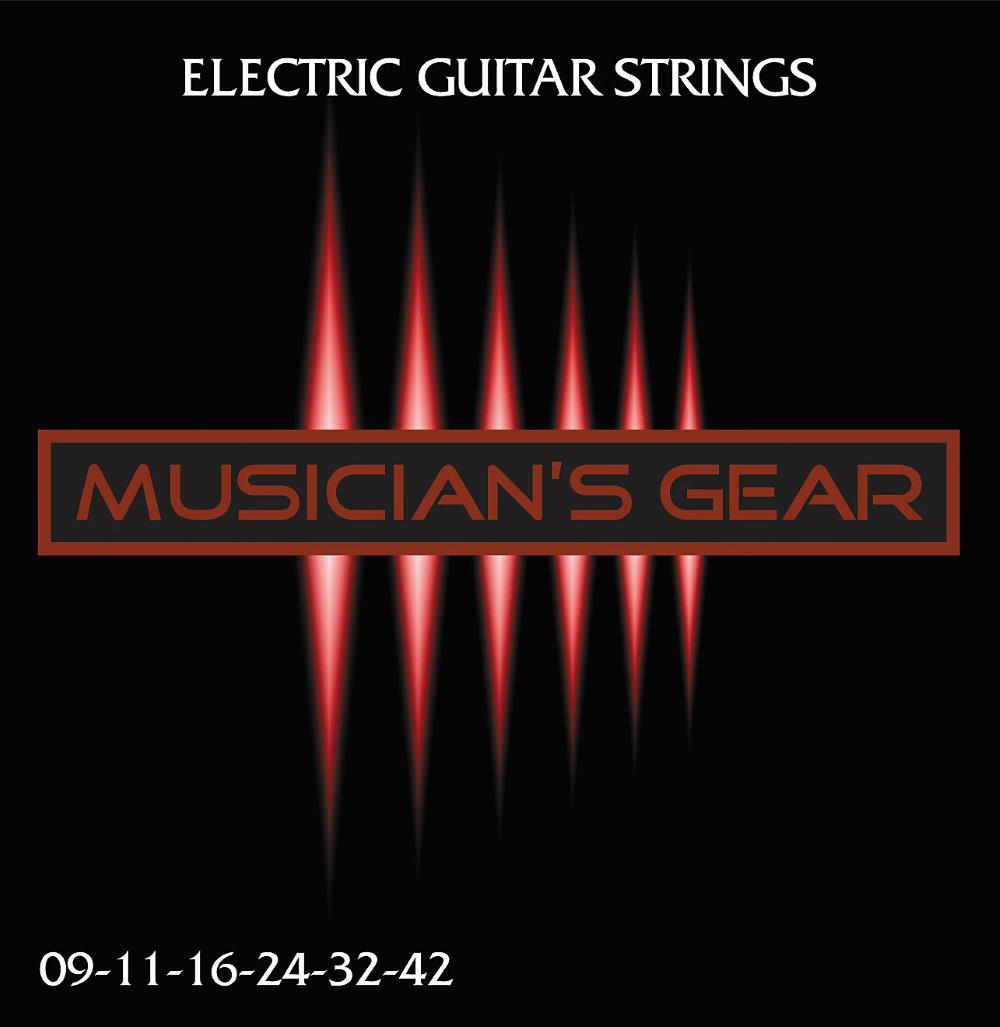 Musician's Gear Electric 9 Nickel Plated Steel Electric Guitar Strings (Super Light Gauge)