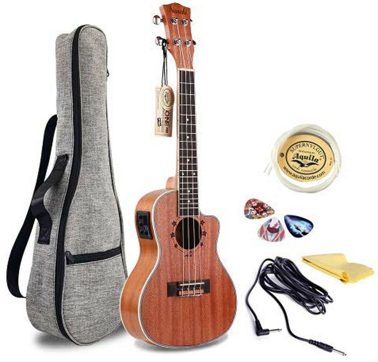 Naneki Concert EQ Acoustic-Electric Ukulele Kit