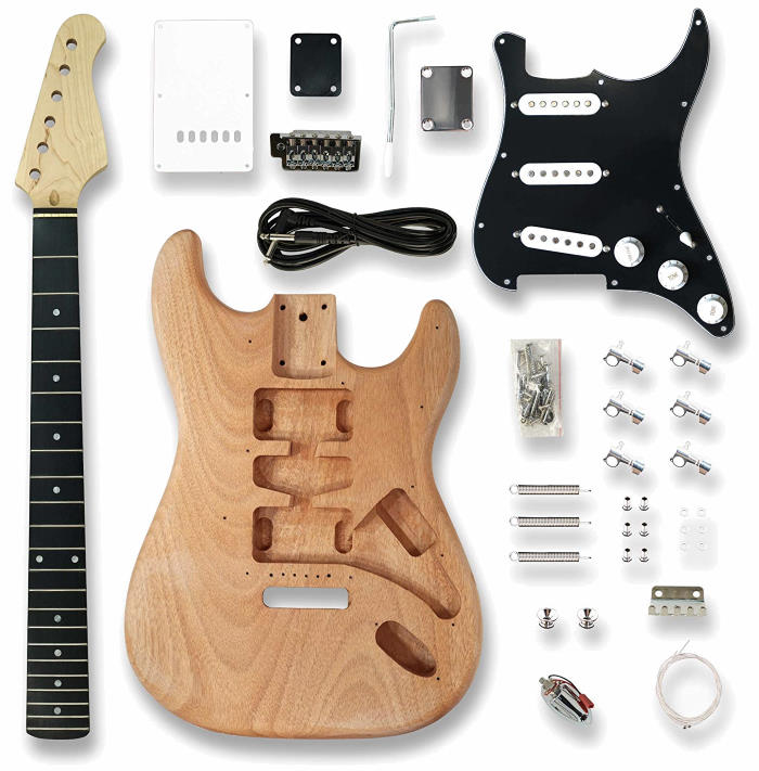 No Name ST-WH Super Strat Style DIY Electric Guitar Kit