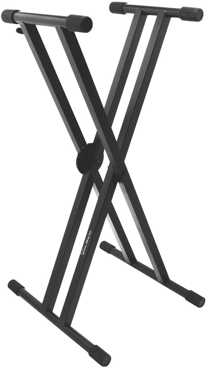 On-Stage Stands KS7291 Double X Keyboard Stand