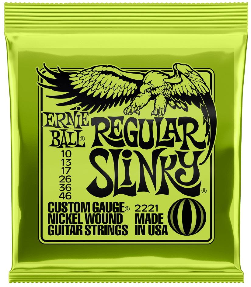 Ernie Ball 2221 Regular Slinky Nickel Wound Electric Guitar Strings (Light Gauge)