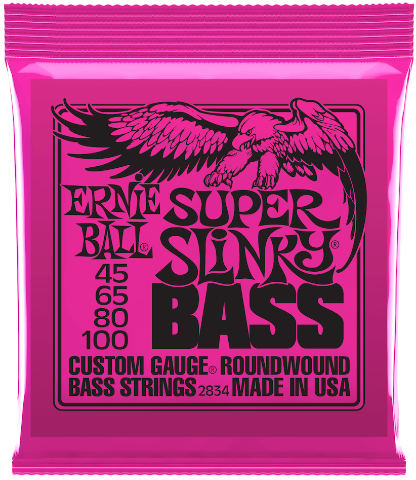 Ernie Ball 2834 Super Slinky Roundwound Bass Guitar Strings