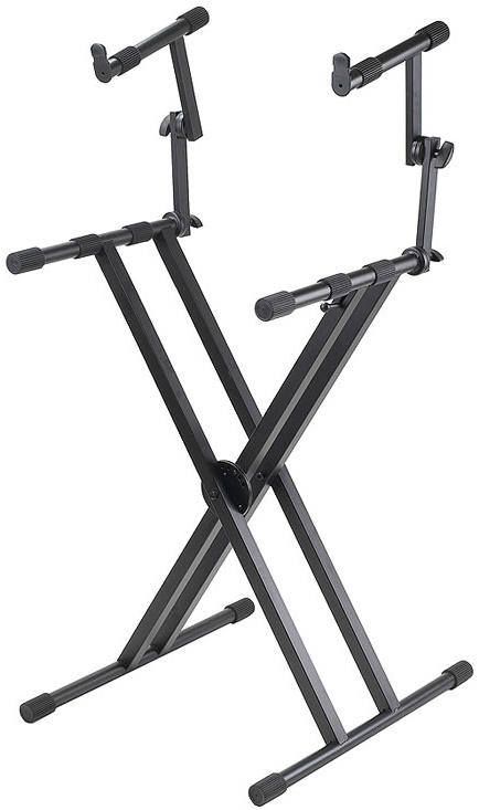 Proline PL402 – 2-Tier Double X-Braced Keyboard Stand
