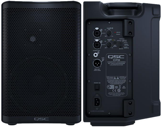 QSC CP8 Powered PA Speaker