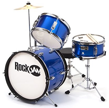 "RockJam RJ103-MB 3-Piece Junior Drum Set w/ 16"" Kick Drum"