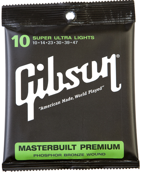 Gibson SAG-MB10 Masterbuilt Premium Phosphor Bronze Acoustic Guitar Strings