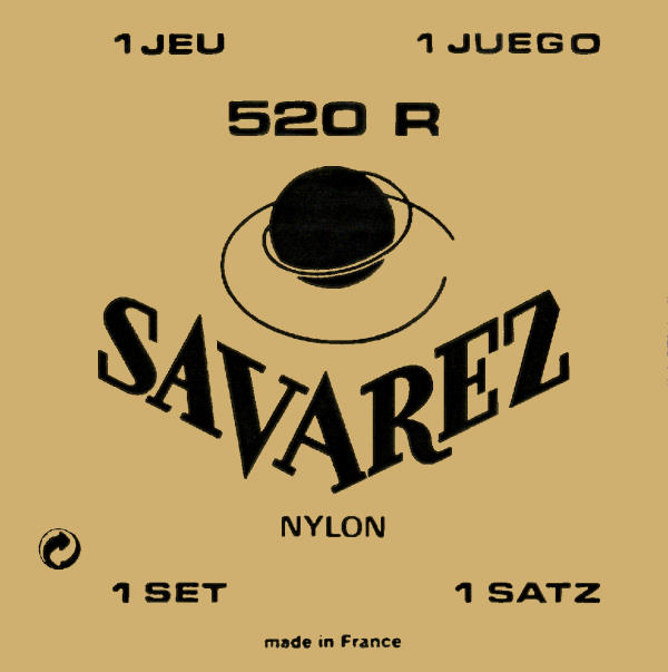 Savarez 520R Rectified Nylon High Tension Classical Guitar Strings