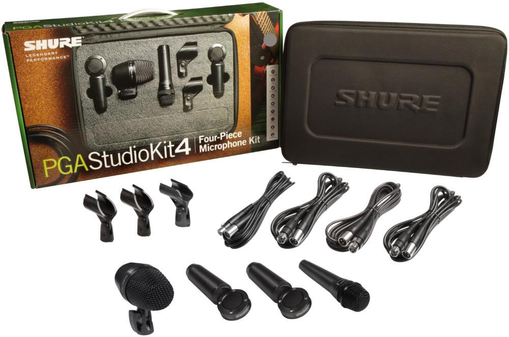 Shure PGASTUDIOKIT4 Drum Microphone Kit