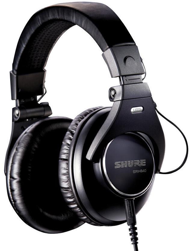 Shure SRH840 Pro Studio Monitor Closed-Back Headphones