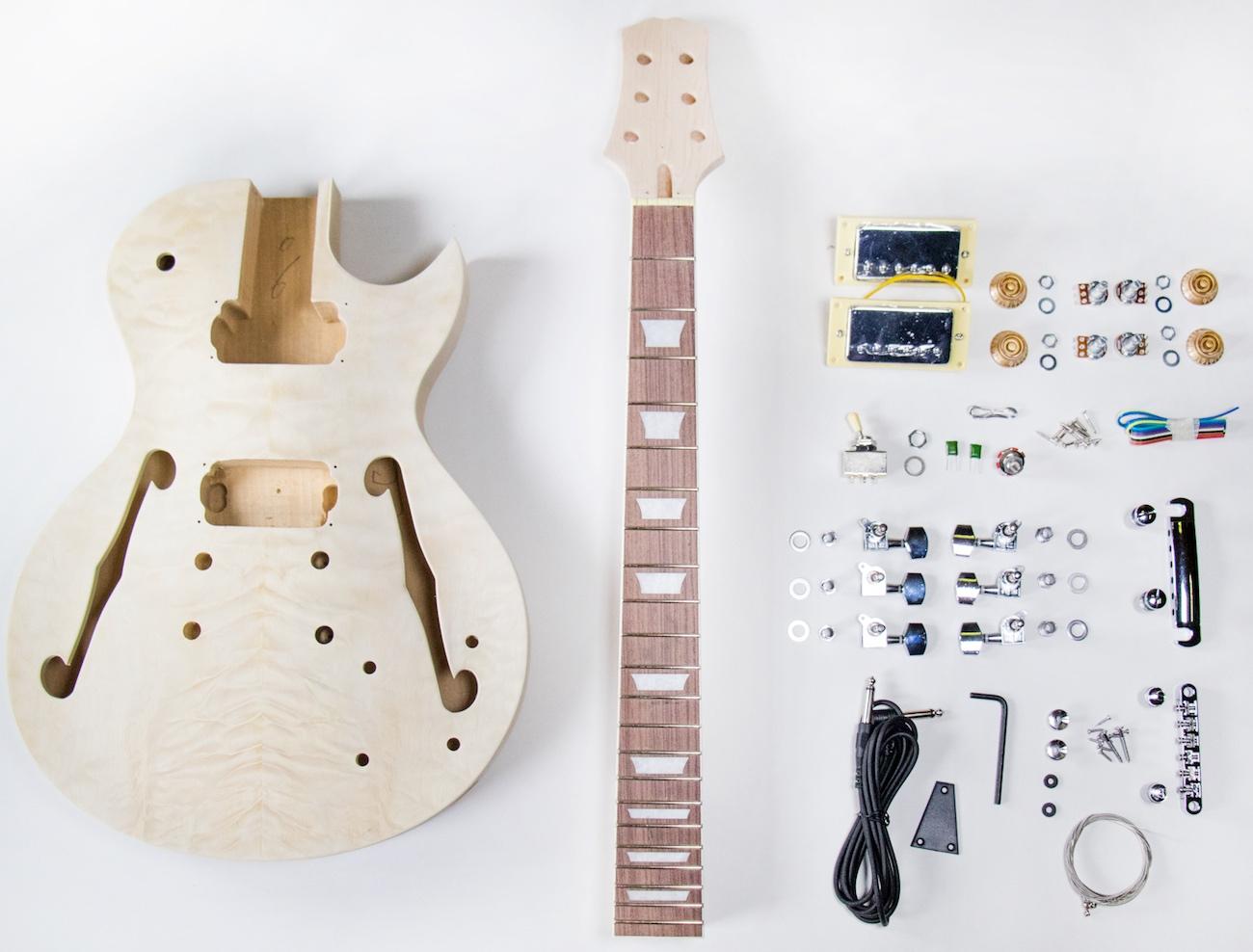 TheFretWire DIY Electric Guitar Kit - SemiHollow LP