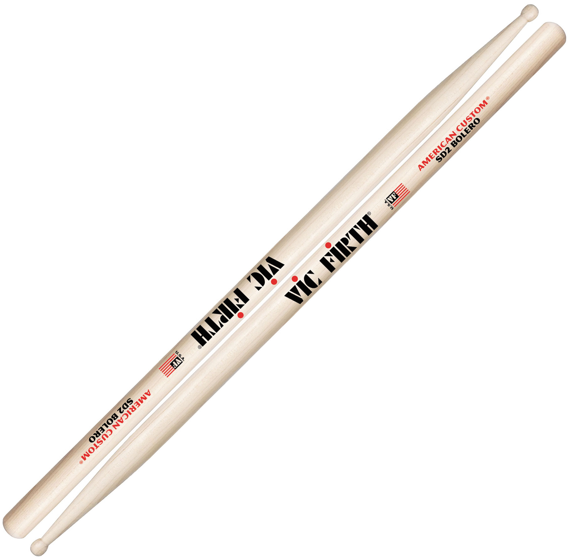 Vic Firth American Custom Bolero Wood Drum Sticks