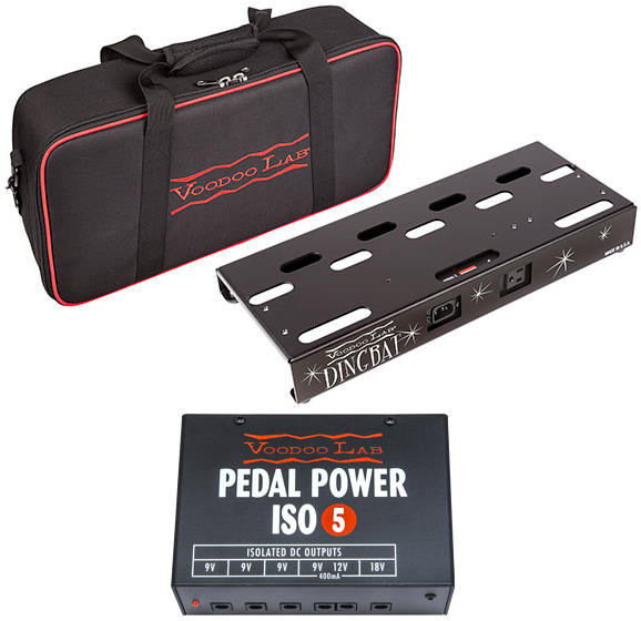 Voodoo Lab Dingbat Small Powered Pedalboard Package with Pedal Power ISO-5