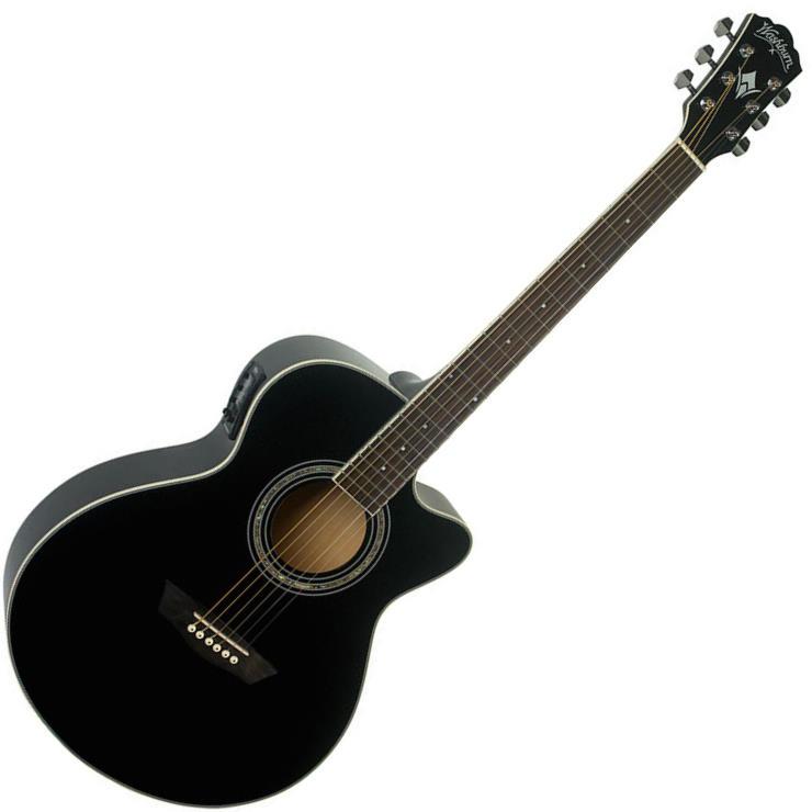 Washburn Festival EA12-B 6 String Acoustic-Electric Guitar