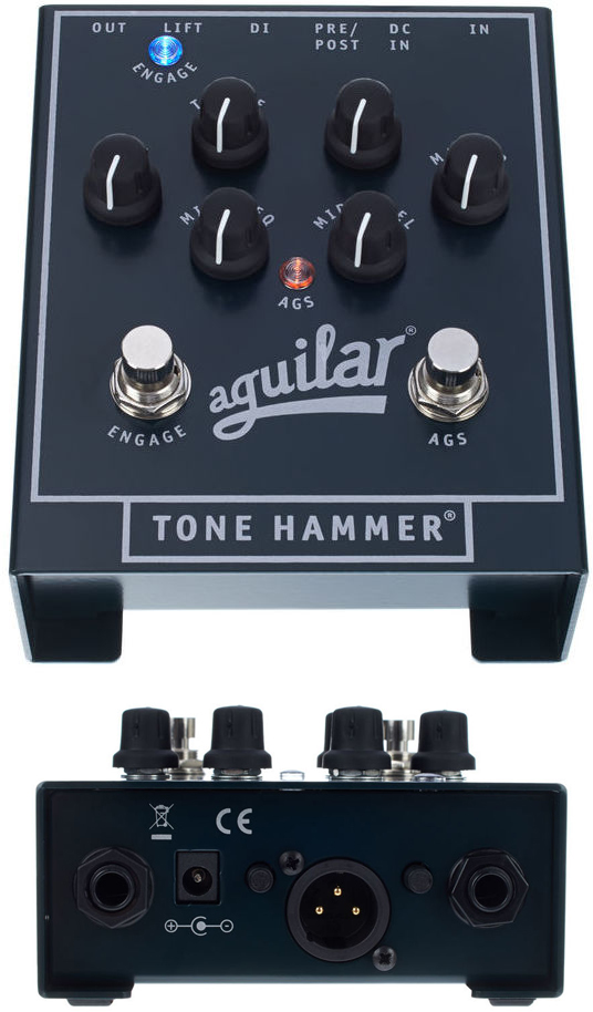 Aguilar Tone Hammer Bass Preamp DI Pedal