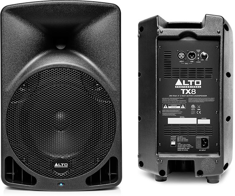 "Alto Professional TX8 8"" 2-Way Powered PA Speaker"