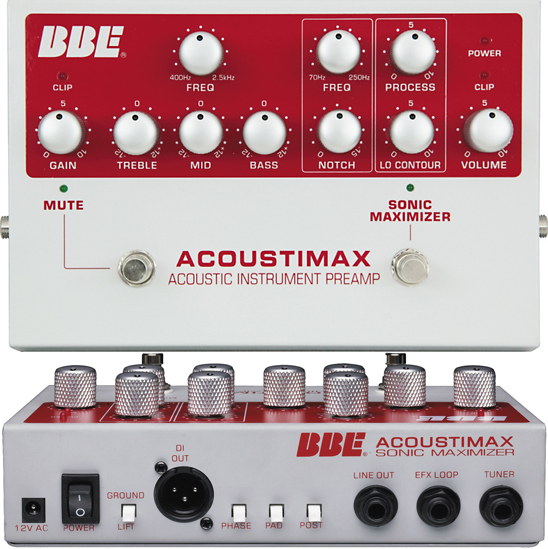 BBE Acoustimax Acoustic Preamp DI Pedal