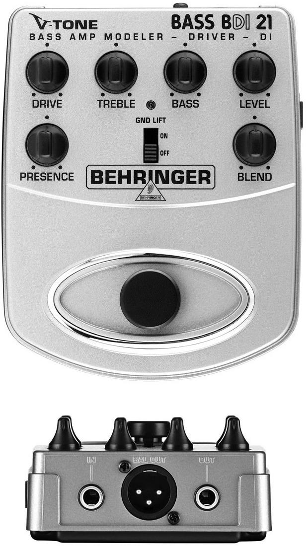 Behringer V-Tone Bass Driver BDI 21 Bass Preamp DI Pedal