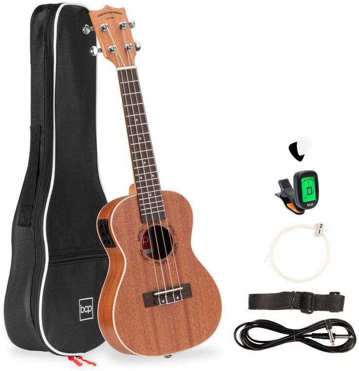 Best Choice Products Concert Acoustic-Electric Ukulele Starter Kit