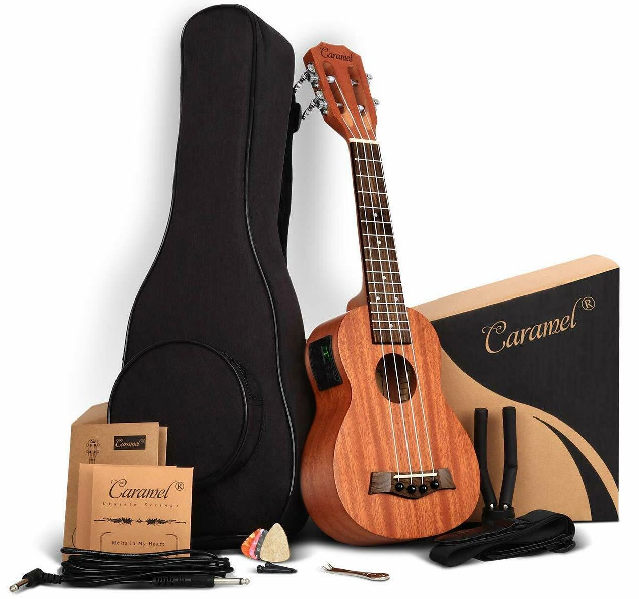Caramel CS419 Soprano Acoustic-Electric Ukulele