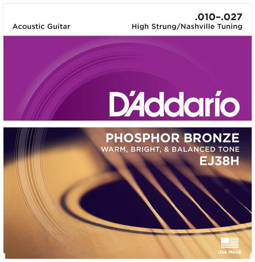 D'Addario EJ38H Phosphor Bronze High Strung Nashville Acoustic Guitar Strings
