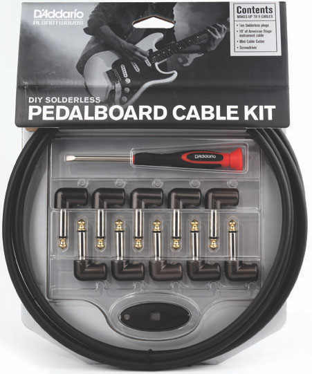 D'Addario DIY Solderless Pedalboard Patch Cable Kit