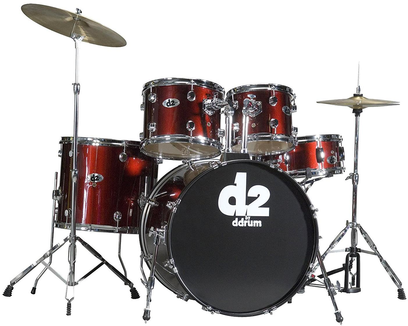 ddrum D2 5-Piece Acoustic Drum Set - Bllood Red