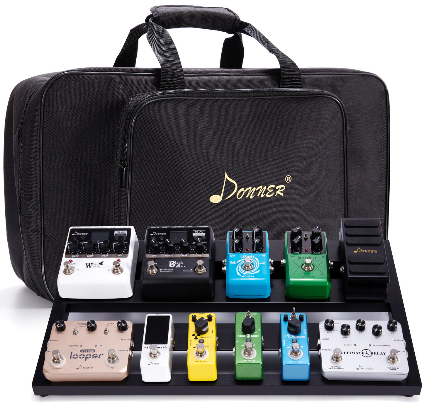 Donner DB-3 Aluminium Pedalboard with Case