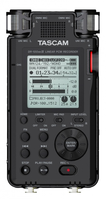 TASCAM DR-100MKIII Stereo Portable Recorder