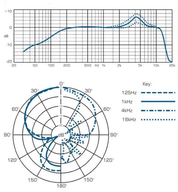 Sennheiser e906 Frequency Response and Polar Pattern Chart