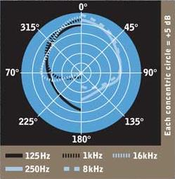 Blue Microphones enCORE 300 polar pattern chart