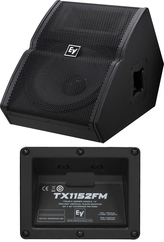"Electro-Voice TX1152FM Tour-X 15"" Passive Floor Monitor Speaker Cabinet"