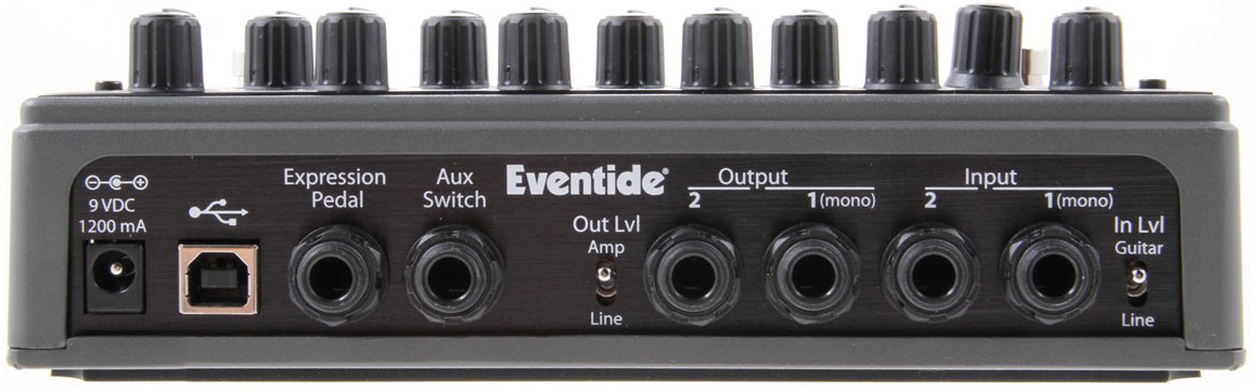 Eventide Space Rear Panel