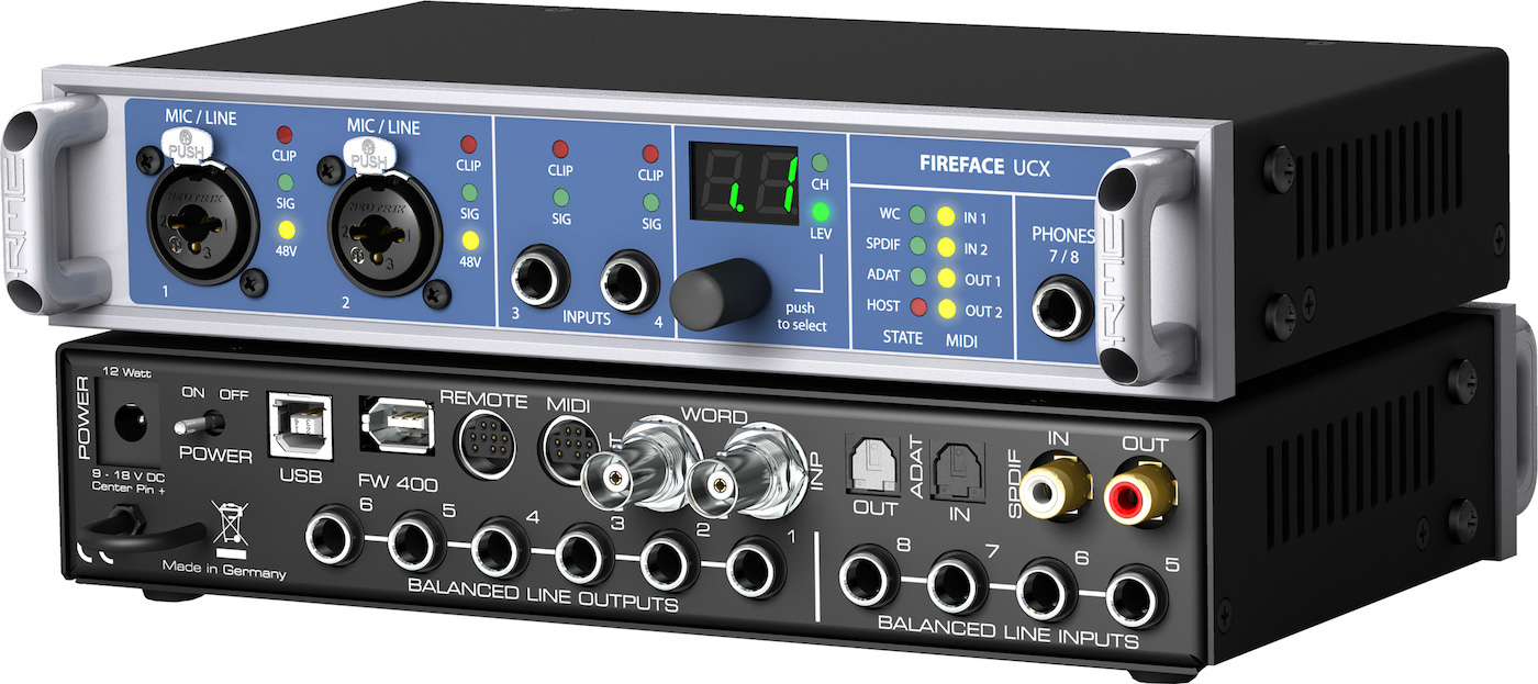 The Best Usb Audio Interfaces 4 8 16 Channel Gearank Balanced Microphone Preamplifier Rme Fireface Ucx 36 Interface